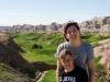 Lara and Alex at hte yellow mounds