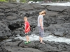 Mom and Alex exploring tidal pools