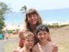 Mom and the boys at Hapuna Beach
