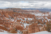 Snow filled canyon