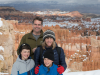 Family photo in front of the hoodoos