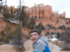 Evan hiking among the hoodoos