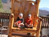 Taking a rest at the Glenwood Caverns Adventure Park