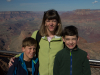 Lara and the boys at a South Rim overlook