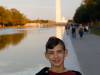 Evan at the reflecting pool