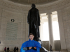 Evan at the Jefferson Memorial