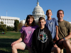 On the lawn after the capitol tour