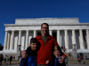 The boys at the Lincoln Memorial