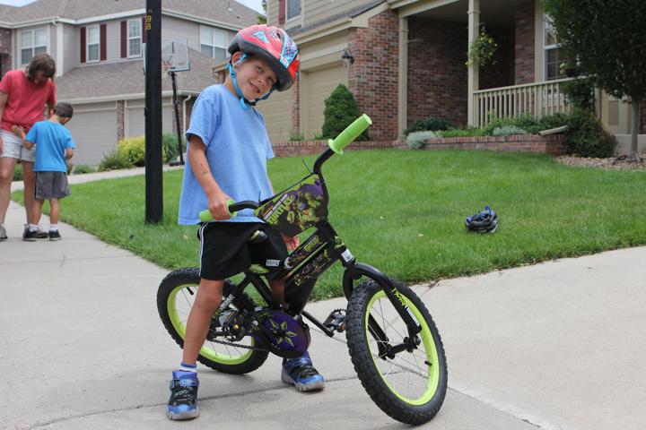 Alex's first two wheeler
