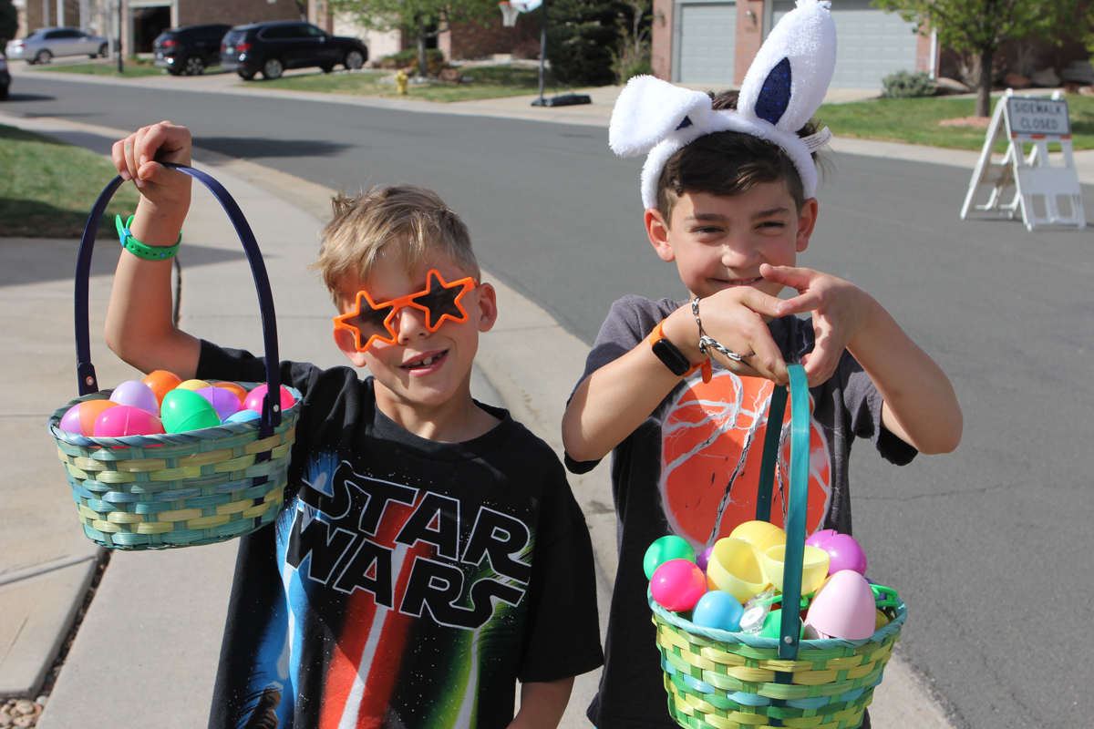 Egg Hunting on Clyde Circle